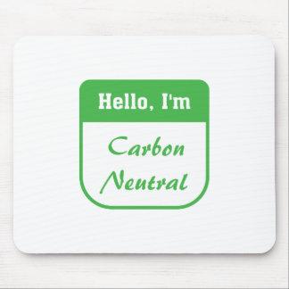 I m carbon neutral mousepad