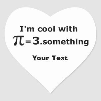 I m Cool With Pi Is 3 Point Something Stickers