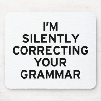 I m Correcting Grammar Mousepad