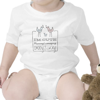 I m Cute Daddy s Lucky Funny Baby T-Shirt