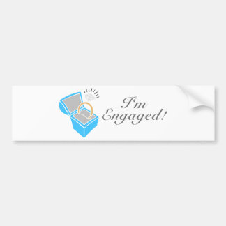 I m Engaged Diamond Engagement Ring Box Bumper Stickers