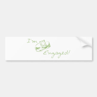 I m Engaged Green Diamond Ring Bumper Stickers