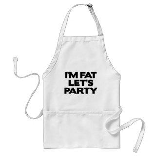 I'm Fat Let's Party Standard Apron