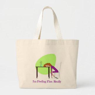 """I""m Feeling Fine"" Fibromyalgia Awareness Tote Bag"