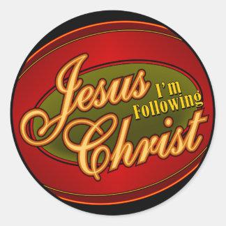 I m Following Jesus Christ Stickers