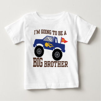 I'm Going To Be A Big Brother Monster Truck Baby T-Shirt