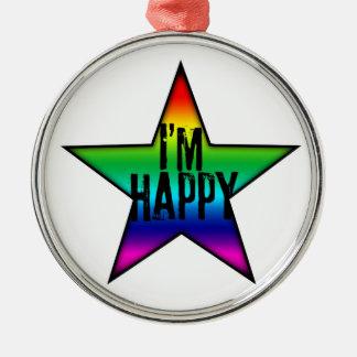 I m Happy - Rainbow - Ornament