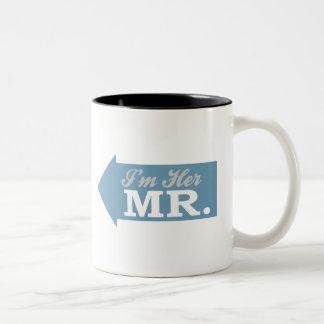 I m Her Mr Blue Arrow Coffee Mug