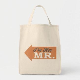I m Her Mr Orange Arrow Bags