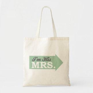 I m His Mrs Green Arrow Tote Bags
