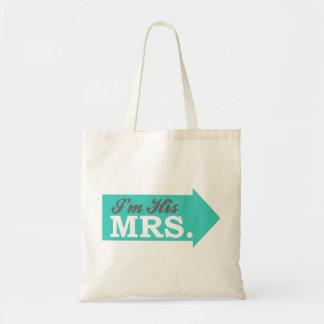 I m His Mrs Teal Arrow Bag