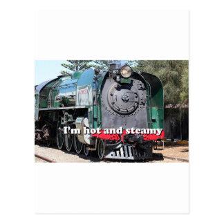 I m hot and steamy steam locomotive Australia Post Card