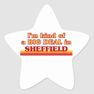I´m kind of a big deal in Sheffield Star Sticker