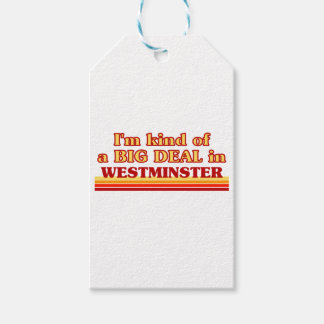 I´m kind of a big deal in Westminster Gift Tags