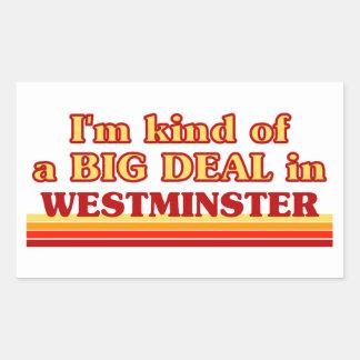I´m kind of a big deal in Westminster Rectangular Sticker