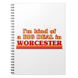 I´m kind of a big deal in Worcester Spiral Notebook