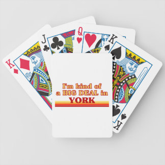 I´m kind of a big deal in York Bicycle Playing Cards