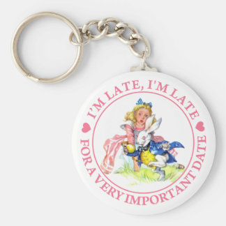 I M LATE I M LATE FOR A VERY IMPORTANT DATE KEY CHAINS