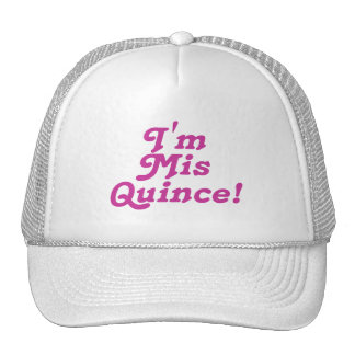 I m Mis Quince pink Mesh Hats