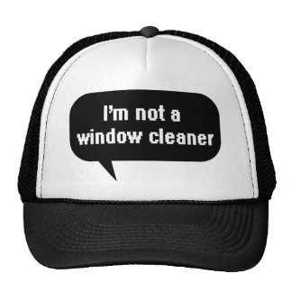 I m not a window cleaner mesh hat