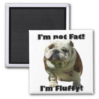 I m not fat Bulldog magnet