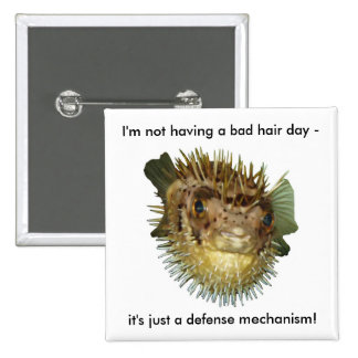 I m not having a bad hair day - button