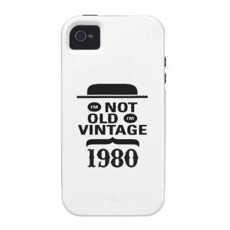 I m not old I m vintage 1980 Vibe iPhone 4 Cover