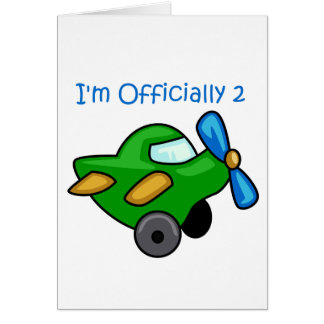 I m Officially 2 Jet Plane Greeting Card