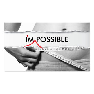 I m Possible Fitness Business Card