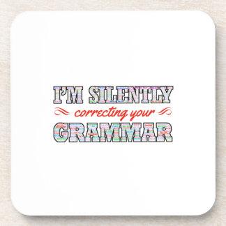 I'm silently correcting your Grammar Coaster