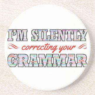 I'm silently correcting your Grammar Coaster