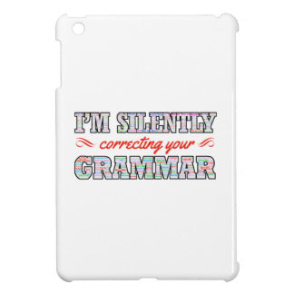I'm silently correcting your Grammar Cover For The iPad Mini