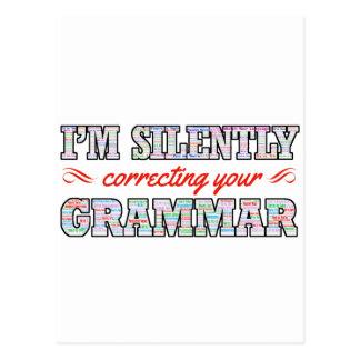 I'm silently correcting your Grammar Postcard
