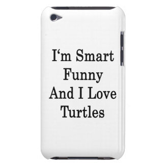 I m Smart Funny And I Love Turtles iPod Case-Mate Case