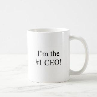 I'm the #1 CEO! Basic White Mug