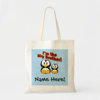 I m the Big Brother 2 Penguins Canvas Bag
