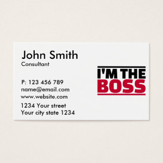I'm the boss business card