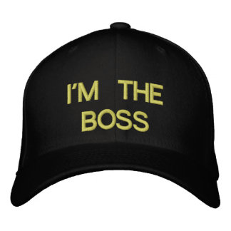 I M THE BOSS EMBROIDERED BASEBALL CAPS