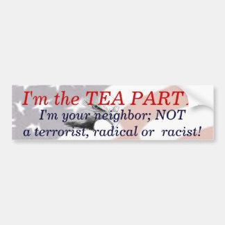 I m the Tea Party Bumper Stickers