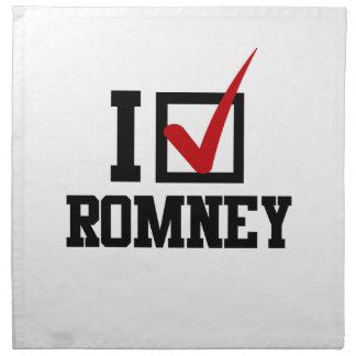 I M VOTING FOR MITT ROMNEY png Cloth Napkin