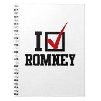 I M VOTING FOR MITT ROMNEY png Note Books
