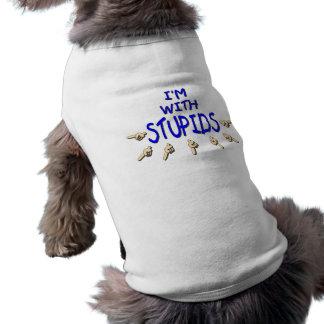 I m With Stupids Pet Tshirt