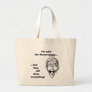 I m with the Government Canvas Bags
