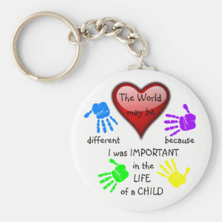 I Made A Difference ~ Keychain.1 Basic Round Button Key Ring