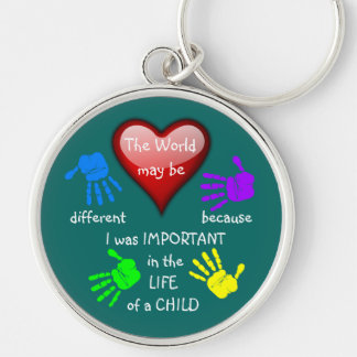 I Made A Difference ~ Keychain.2 Silver-Colored Round Key Ring