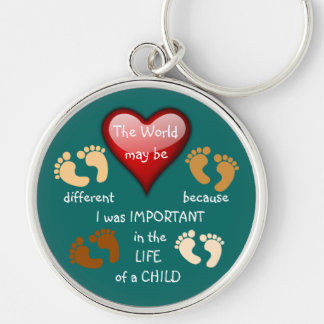 I Made A Difference ~ Keychain.4 Silver-Colored Round Key Ring