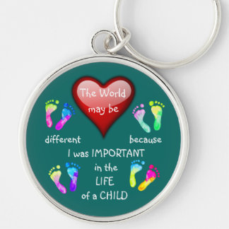 I Made A Difference ~ Keychain.5 Silver-Colored Round Key Ring