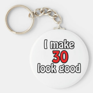 I make 30 garlic good basic round button key ring