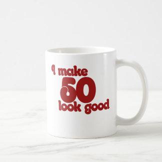I make 50 look good basic white mug