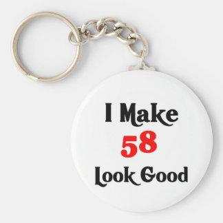 I make 58 look good basic round button key ring